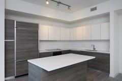 Moderne Küche mit Insel Stockbilder