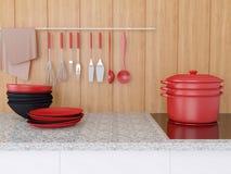 Moderne Kücheauslegung lizenzfreie stockfotos