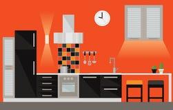 Moderne Kücheauslegung Stockfoto