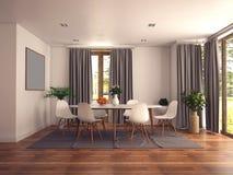 Moderne Kücheauslegung Stockfotografie