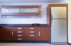 Moderne Küchebildschirmanzeige Stockfotografie