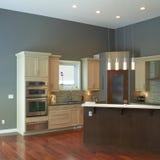 Moderne Küchen-Innenarchitektur Lizenzfreie Stockfotografie