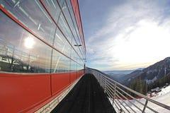 Moderne kabelbaan in skitoevlucht chopok-Juh, Slowakije Stock Foto