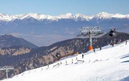 Moderne Kabelbahn FUNITEL - niedriges Tatras, Slowakei stockfotos