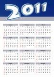 Moderne kalender Stock Afbeeldingen