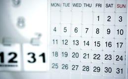 Moderne Kalender Royalty-vrije Stock Afbeeldingen