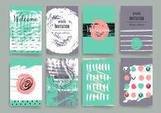 Moderne Kartendesignschablone mit grungy rauem Lizenzfreie Stockfotos