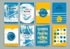 Moderne Kartendesignschablone mit grungy rauem Stockfotos