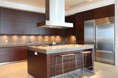 Moderne Küche Stockfoto