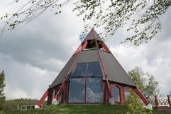 Moderne kerk Stock Fotografie