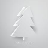 Moderne Kerstmisgroet Stock Afbeeldingen