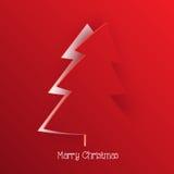 Moderne Kerstmisgroet Stock Foto's
