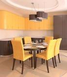 Moderne keuken. Stock Foto