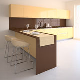 Moderne keuken. Royalty-vrije Stock Foto