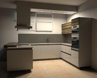 Moderne keuken Stock Foto's