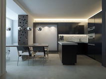 Moderne keuken Stock Fotografie