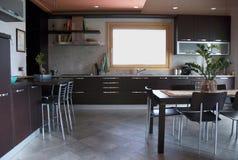 Moderne keuken - binnenland Stock Afbeelding