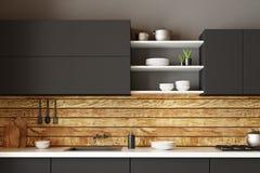 Moderne keuken met copyspace royalty-vrije illustratie