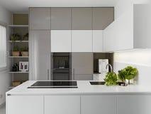 Moderne keuken met groenten Royalty-vrije Stock Foto