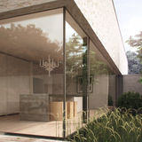 Moderne keuken in minimalistisch huis Stock Afbeeldingen