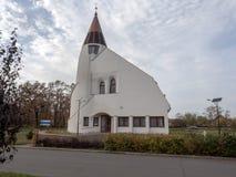 Moderne Kirche von HortobÃ-¡ GY, Ungarn stockfotos