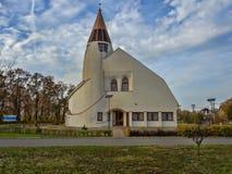 Moderne Kirche von HortobÃ-¡ GY, Ungarn stockbild