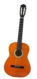 Moderne klassische Akustikgitarre lokalisiert auf weißem Hintergrund Stockfotografie