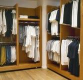 Moderne kleedkamer royalty-vrije stock afbeelding