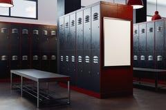 Moderne kleedkamer met leeg kader Stock Afbeeldingen