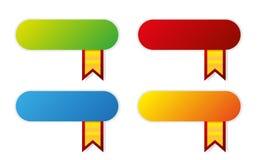Moderne kleurenpictogrammen met linten Stock Afbeelding