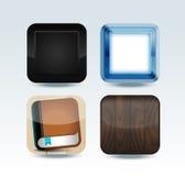 Moderne kleurrijke app pictogramreeks royalty-vrije illustratie