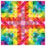 Moderne kleurrijke elementen bij abstract patroon Royalty-vrije Stock Fotografie