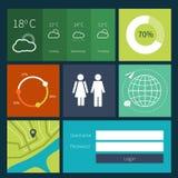 Moderne kleurrijke gebruikersinterfacevectorlay-out binnen vector illustratie