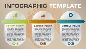Moderne kleurrijke het malplaatjevector van infographicsopties met cirkel Royalty-vrije Stock Foto