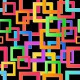 Moderne kleurrijke mozaïekachtergrond Vector naadloze textuur Abstract Geometrisch patroon Modern kleurrijk mozaïek Stock Afbeeldingen