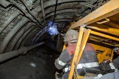 Moderne Kohlengrube Untertage lizenzfreies stockfoto