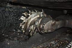 Moderne Kohlengrube Untertage stockfoto