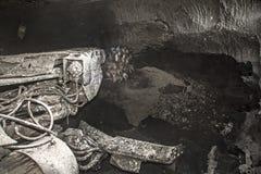 Moderne kolenmijn ondergronds Stock Foto's