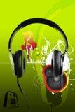 Moderne Kopfhörer und städtische Art der Musik stock abbildung