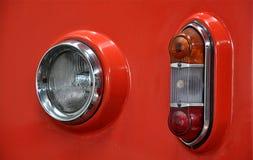Moderne koplamp en locomotief royalty-vrije stock foto