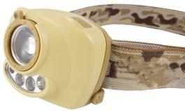 Moderne koplamp LEIDEN flitslicht op wit royalty-vrije stock afbeelding