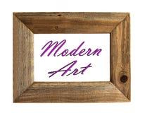 Moderne Kunst - Omlijsting stock foto's