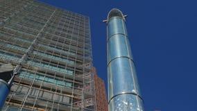 Moderne Kunst und Architektur von Potsdamer Platz stock video footage