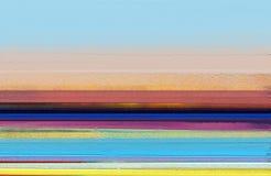 Moderne kunstolieverfschilderijen met gele, rode kleur Abstracte eigentijdse kunst voor achtergrond stock foto