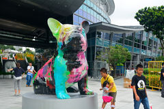 Moderne kunsttentoonstelling, Singapore Royalty-vrije Stock Foto's
