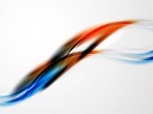 Moderne Kurve streift Schablone Lizenzfreies Stockfoto