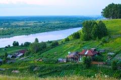 Moderne ländliche Landschaft Stockbilder