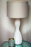 Moderne lamp en kaars Royalty-vrije Stock Afbeeldingen