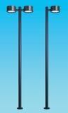 Moderne lamp postreeks Stock Afbeeldingen