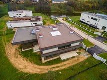 Moderne Landhäuser im Bau Lizenzfreie Stockfotos
